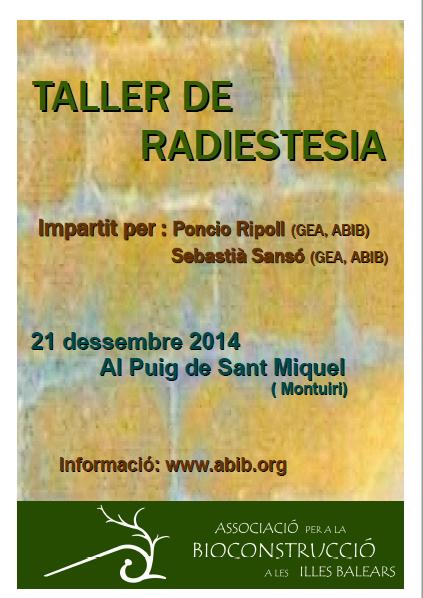 TALLER DE RADIESTESIA